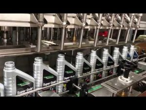 πλήρης αυτόματη γραμμή εξοπλισμού πλήρωσης λαδιού λιπαντικού λαδιού λιπαντικού