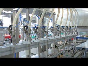 απολυμαντικό μηχάνημα πλήρωσης μπουκαλιού αλκοόλης με υγρό σαπούνι