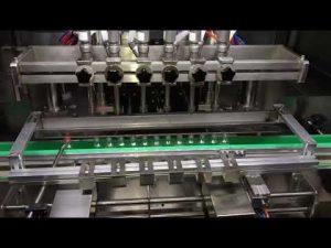 αυτόματη μηχανή πλήρωσης γέλης απολυμαντικού αλκοόλης για καθημερινή χημική βιομηχανία