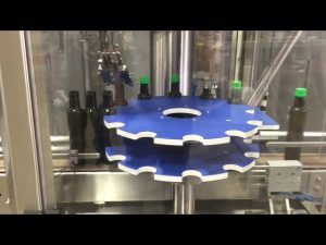 Αυτόματη μηχανή σφράγισης πώματος αλουμινίου ropp με βιδωτό πώμα για γυάλινη φιάλη