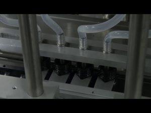 Αυτόματο μηχάνημα πλήρωσης υγρού 10ml-5l 6 κεφαλών αυτόματης επιφάνειας εργασίας