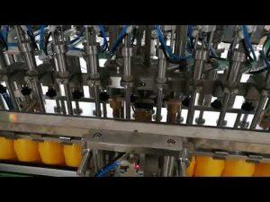 Αυτόματο μηχάνημα πλήρωσης μπουκαλιών 12 κεφαλών για καλλυντικά σάλτσας λαδιού κέτσαπ