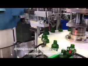 μηχανή γεμίσματος αιθέριου ελαίου μπουκάλι σταγονόμετρο