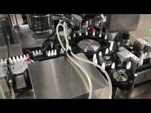 φαρμακευτική μηχανή πώματος πλήρωσης σταγόνας για μικρά φιαλίδια των 20 ml